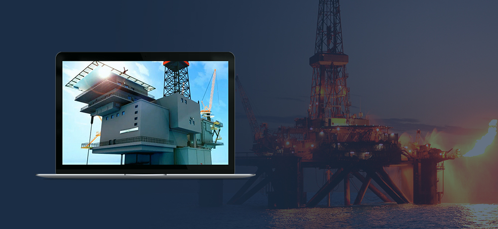 Oil platform simulator case study