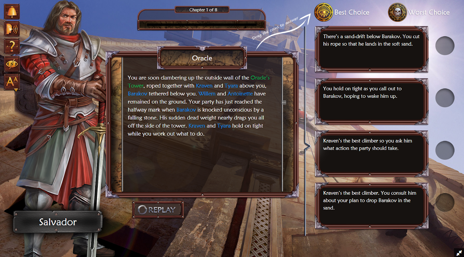 Owiwi game interface