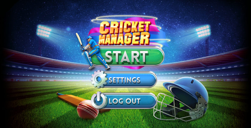 Cricket Manager main screen
