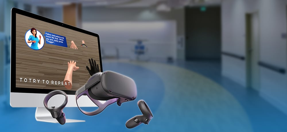 VR healthcare rehabilitation app